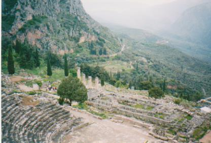 Delphi - Theatre and Temple to Apollo 001