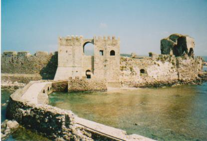 Methoni castle from the sea 001